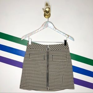 NEW Urban Outfitters O-ring gingham Skirt